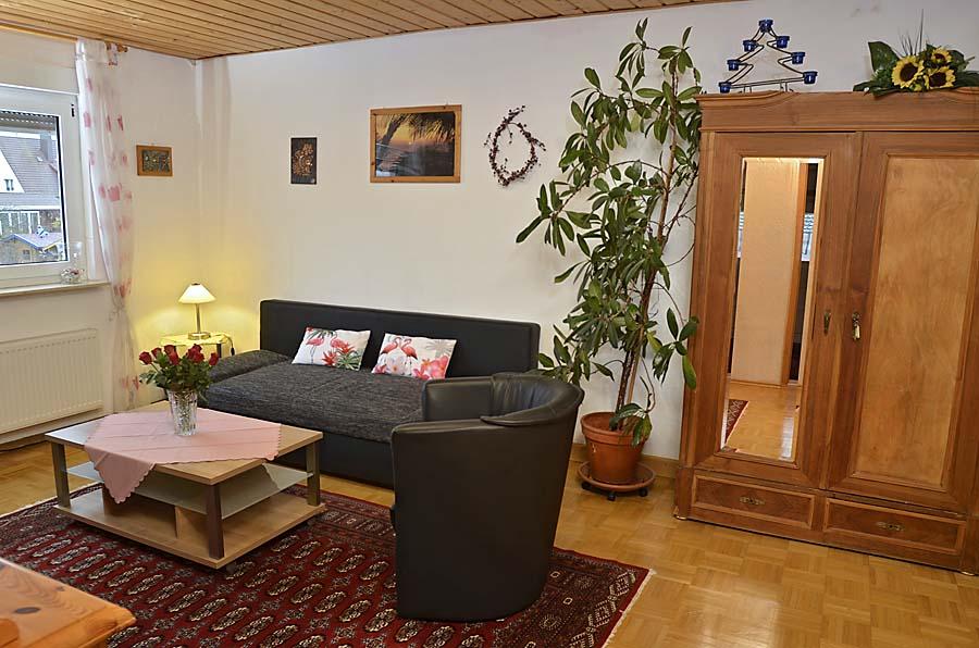 Wohnzimmer, Ferienwohnung Haus am Weinberg